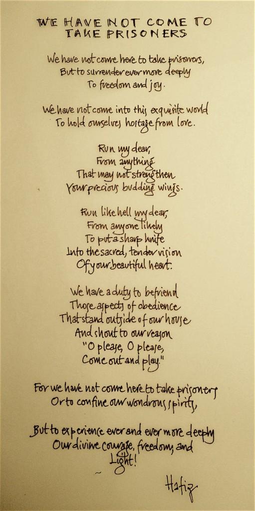 een gedicht van hafiz centrum voor tantra